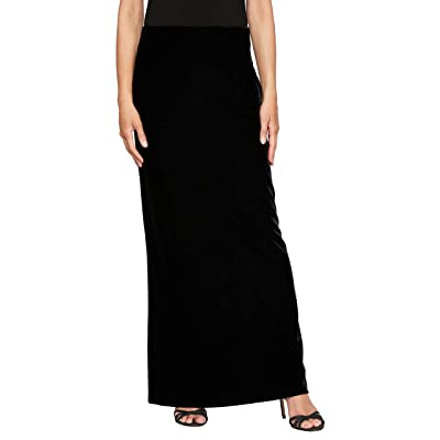 Alex Evenings Long Dress Skirt With Fishtail (Regular and Plus Sizes)