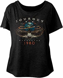 American Classics Journey Music 1980 Ladies Short Sleeve Shirt Black