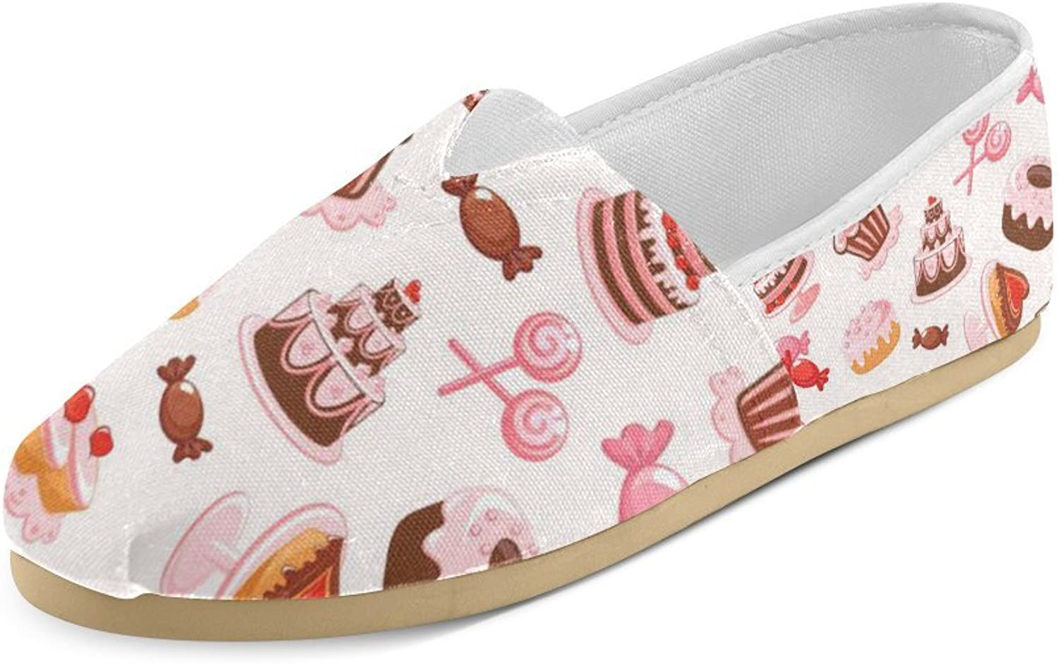 HUANGDAISY Unisex shoes Sweet Cake Candy Donuts Casual Canvas Loafers for Bia Kids Girl Or Men
