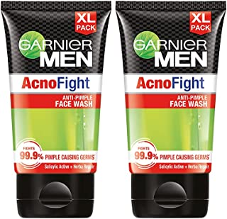 Garnier Men Acno Fight Facewash - For Pimple And Acne Prone Skin, 150gm (Pack of 2)