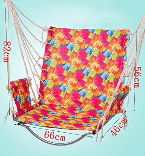 Ailin home- Chaise de jardin suspendue au hamac, siège pivotant pour les espaces intérieurs ou extérieurs, charge: 150 kg ( Couleur : #3 )