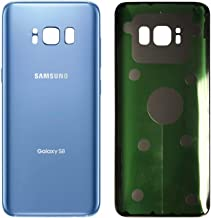 Original Back Glass Cover Battery Door Replacement for Samsung Galaxy S8 G950 (Coral Blue)