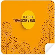 DIYthinker Thanksgiving Day Turkey Watercolor Pattern Glasses Cleaning Cloth Phone Screen Cleaner Suede Fabric 2Pcs