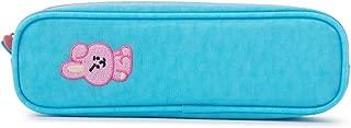 BT21 Official Merchandise by Line Friends - Cooky Stitch Pencil Case, Sky Blue