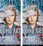 got2b color - Coloration Cheveux - BOMB'ART ARGENT - 098 L'Explosive - Semi Permanent...