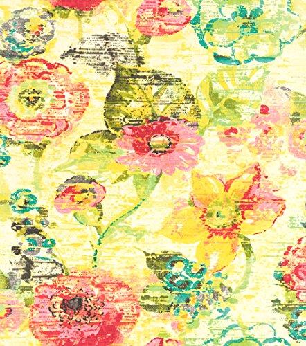 rasch Tapete 803716 aus der Kollektion Lucy in the Sky – Vliestapete mit elegantem Blumen-Muster in Gelb- & Grüntönen – 10,05m x 53cm (L x B)