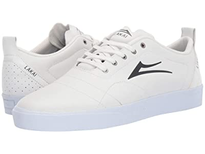 Lakai Bristol (White/Charcoal Leather) Men