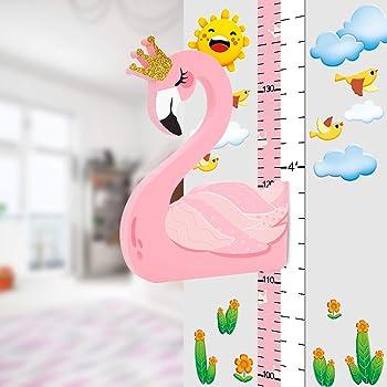 Perfeclan Tableau de Croissance Enfants Toise Murale /à Suspendre Dessin Anim/é D/écoration de Chambre /à Coucher denfants 200x21cm A