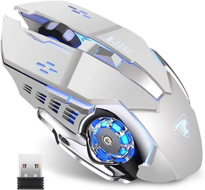 Mouse gaming wireless ricaricabile tenmos t85 , 2,4g usb led mouse senza fili ottico B07ZJFSLVB