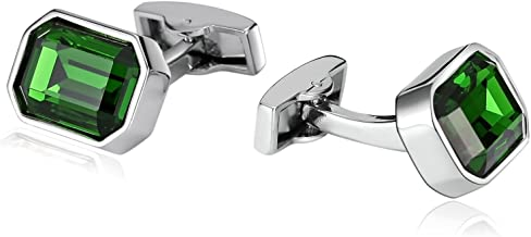 Epinki Men Stainless Steel Polygon Clear Cubic Zirconia Cufflinks for Bussiness Wedding-with Gift Box