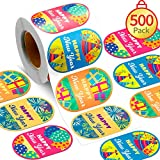 500 Pieces Happy New Year Stickers Self Adhesive New Year Gift Tags Roll Sticker 2020 Seals Labels New Year's Eve Party Stickers for Cards Gift Envelopes
