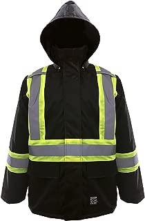 Viking Open Road 150D Hi-Vis Waterproof Rain Jacket, Black,  6323JB