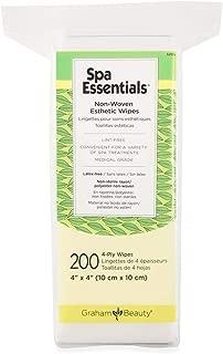 Graham Spa Essentials 2x2 Non-Woven Esthetic Make-Up Wipes,200 Count per Box
