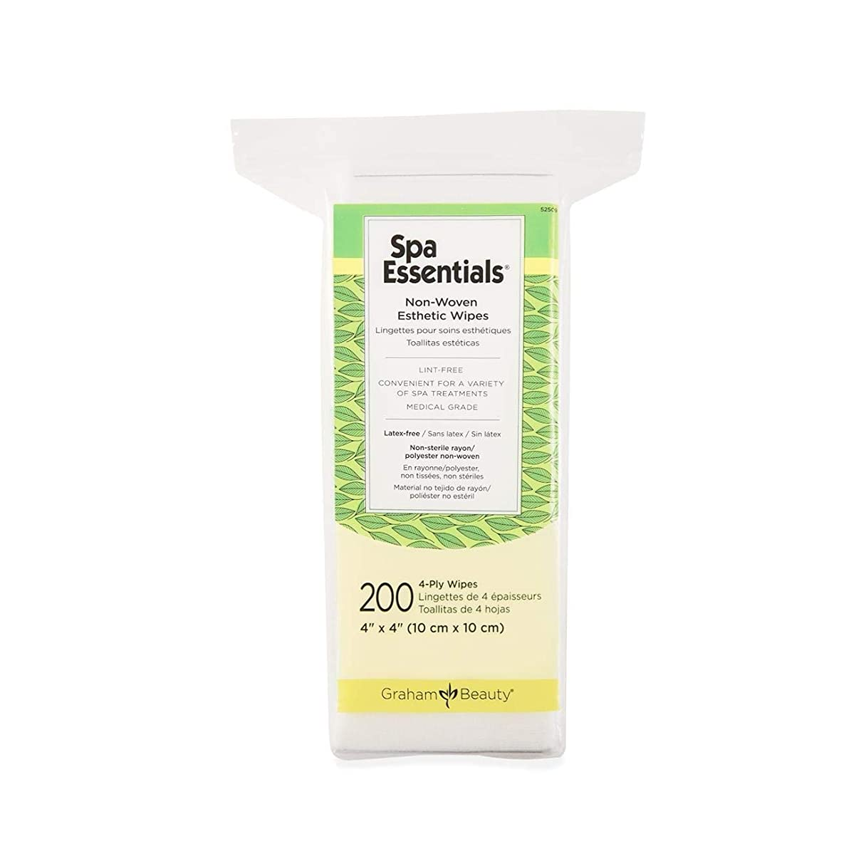 専門知識敬の念家事Graham Spa Essentials 2x2 Non-Woven Esthetic Make-Up Wipes,200 count per box