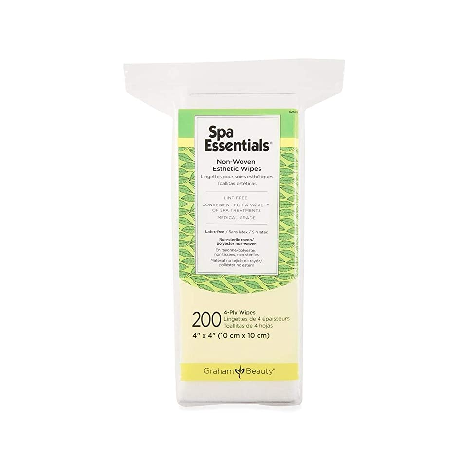 Graham Spa Essentials 2x2 Non-Woven Esthetic Make-Up Wipes, 200 count per box