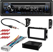 CACHÉ KIT3198 Bundle with Complete Car Stereo Installation Kit with Receiver - Compatible with 2005-2007 Dodge Charger – Single Din Radio Bluetooth CD/AM/FM Radio, in-Dash Mounting Kit (5Item)