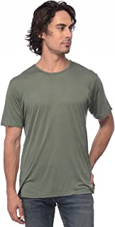 Yoloclan Men's Round Neck Military Green T Shirt
