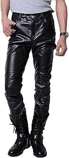 (キエモン) KIEMON レザーパンツ フェイク 皮 革 ズボン PU メンズ 細身 お兄系 スリム ライダース ストレッチ