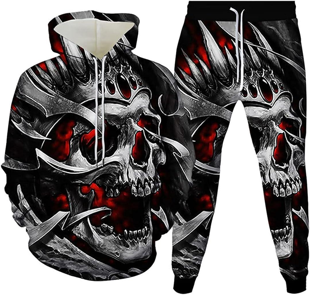 USA Flag Punk Skull depot Hip Denver Mall Hop Full Printing Tracksuit Colorful 3D