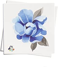TattooYou Blue Peony Temporary Tattoo for Women - Finest Quality Watercolor Style Temporary Peony Flower Tattoo - Hand Drawn Design by Sasha Unisex - 3 by 3 Inches