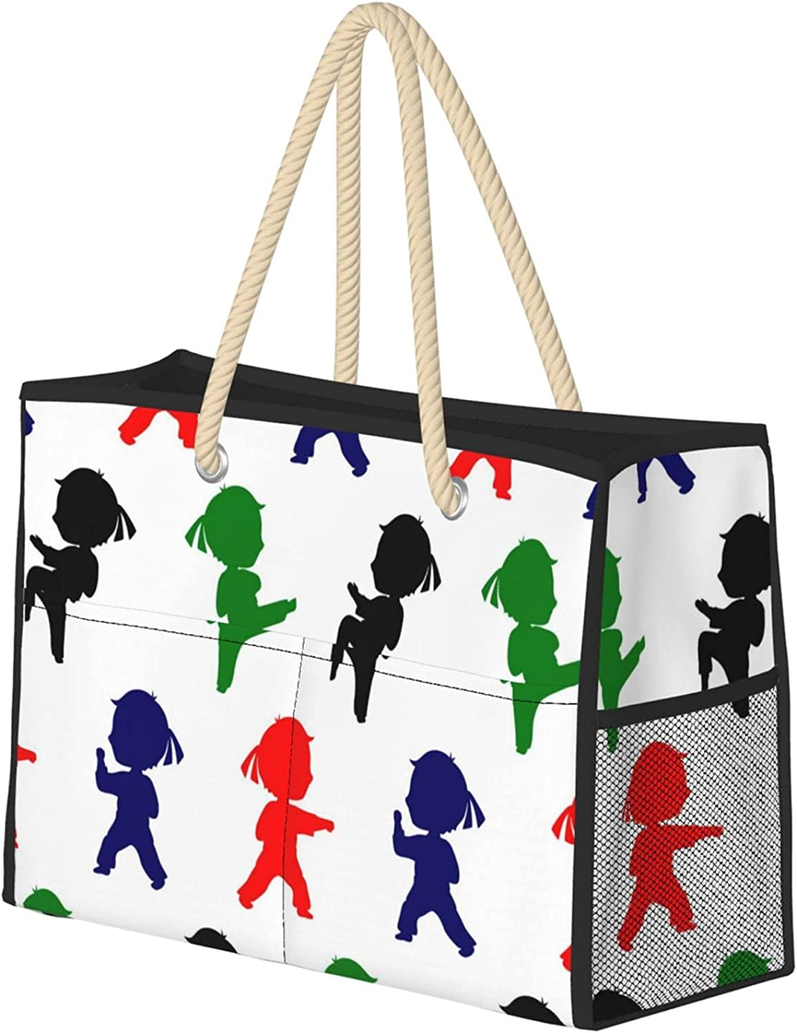 Martial Arts Women Indianapolis Mall Beach Bag Reusable OFFer Utility Tote Travel Gr