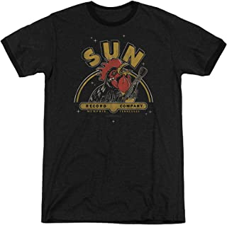 Sun Records Company Rocking Rooster Classic Music Adult Ringer T-Shirt Tee