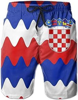 Bañador de Hombre Originalidad Croacia Shorts de Playa de Surf de Secado rápido con cordón y Bolsillos
