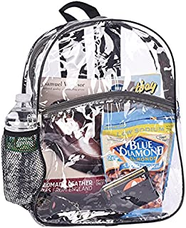 Bags for Less Clear Security Backpack (Black)