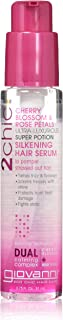 Giovanni Hair 2chic Ultra-Luxurious Super Potion Hair Serum, 4 oz, for Wavy & Curly Hair, Cherry Blossom and Rose Petals, Aloe Vera, Detangles, Sulfate Free, Color Safe