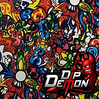 Color Fusion Sticker Bomb Hydrographic Water Transfer Film Hydro Dipping