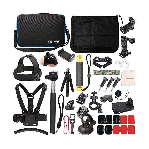 50 in 1 Basic Common Action Camera Outdoor Sports Accessories Kit for Gopro Hero...
