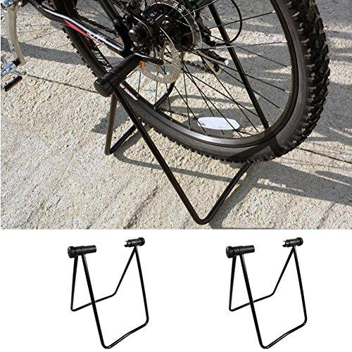 Marco de estacionamiento para bicicleta, soporte de aparcamiento, soporte plegable para rueda de bicicleta, para bicicleta de montaña y de carretera, interior y exterior, negro