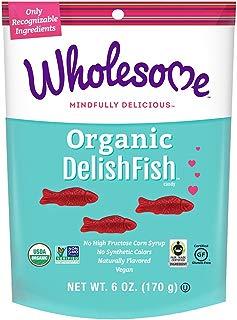 Wholesome Fair Trade Organic DelishFish, No Artificial Colors or High Fructose Corn Syrup, Non GMO & Gluten Free, Vegan, 6 oz (Pack of 1)