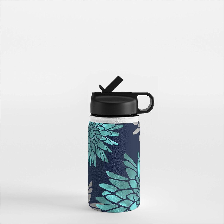 Society6 Floral Chrysanthemum Modern Navy Aqua by Morris Megan New product! New type o Boston Mall