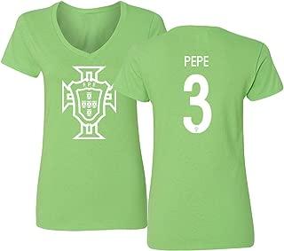 Tcamp Portugal 2018 National Soccer #3 Kepler Laveran de Lima Ferreira Pepe World Championship Women's V-Neck Tshirt