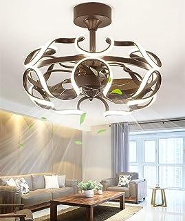 SLZ Ventilador de Techo con iluminación, Ventilador Ventilador de Techo Luz LED, Velocidad del Viento Ajustable, Regulable con Control Remoto, Lámpara de Techo LED Moderna de 36 vatios 26 pulg.