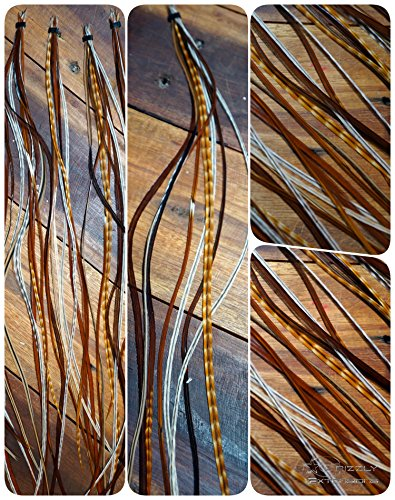 Lot de 8 extensions en plumes naturelles Extra Long à partir de 30 cm (rarement)