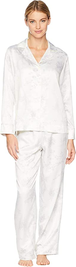 Satin Notch Collar Pajama Set