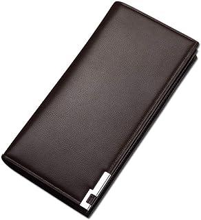 محفظة جلدية جلدية جلدية طويلة الطراز من PULABO حاملة بطاقات استقبال الأموال منظم حامل, بني, قياس واحد, محفظة للبطاقات