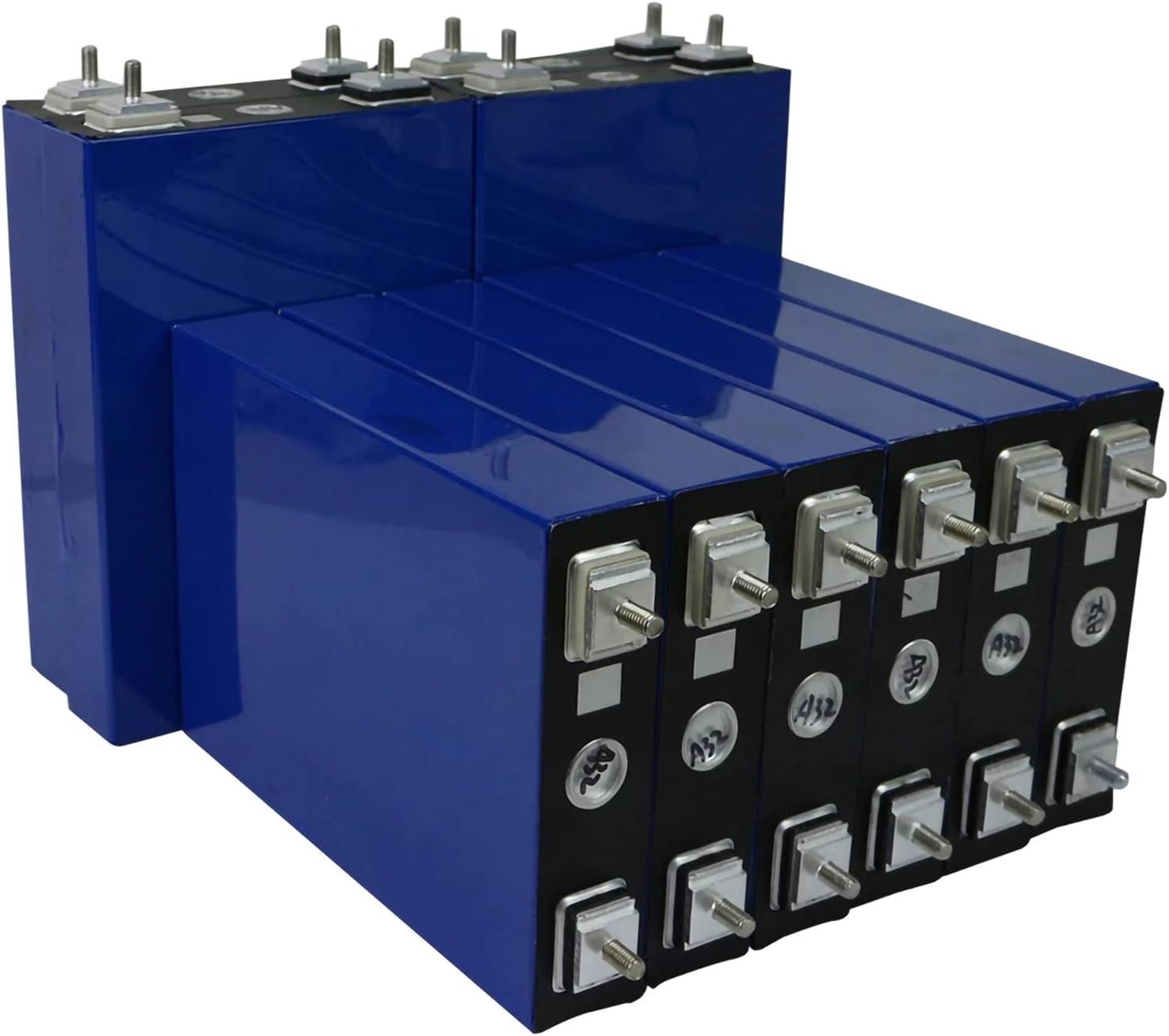 VARADOMO Nuevo 3.2V 100AH LIFEPO4 BATERÍA DIY 12V 24V 100AH Paquete de baterías Recargables para automóviles eléctricos RV Energía Solar Free,4pcs