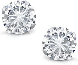 Charles & Colvard Forever Classic 0.66 Cttw DEW Moissanite Women's Stud Earrings 14K White Gold
