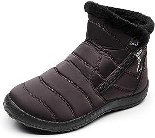 40d912347 Zapatos Mujer Botas de Nieve Invierno Forro Calentar Tobillo Al Aire Libre  Zapatillas Altas Outdoor Antideslizante