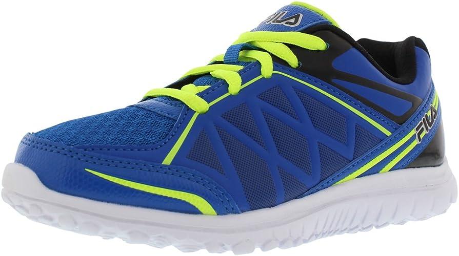 Fila Energystrike Boy's Running chaussures Taille US 13.5, Regular Width, Couleur bleu noir Lime
