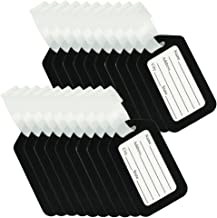 BlueCosto Luggage Tags Suitcase Tag Bag Labels Travel Accessories - Black,20 Pack