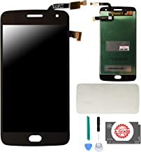 KR-NET [A Grade] (Lunar Gray/Black) LCD Display Touch Screen Digitizer Assembly Replacement for Moto G5 Plus, with Adhesive and Tools