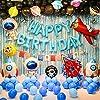 子供の誕生日パーティー HAPPY BIRTHDAY宇宙テーマロケット宇宙飛行士の風船 男の子の誕生日用品を飾ります
