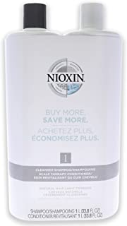 Nioxin System 1 Cleanser Scalp Therapy Conditioner Duo For Unisex 33.8 oz Shampoo, Conditioner