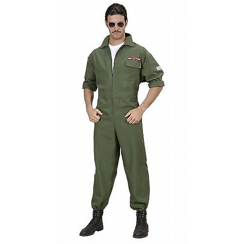 872f2c1752 WIDMANN WID89021 - Costume per Adulti Pilota di Jet da Combattimento,  Verde, S