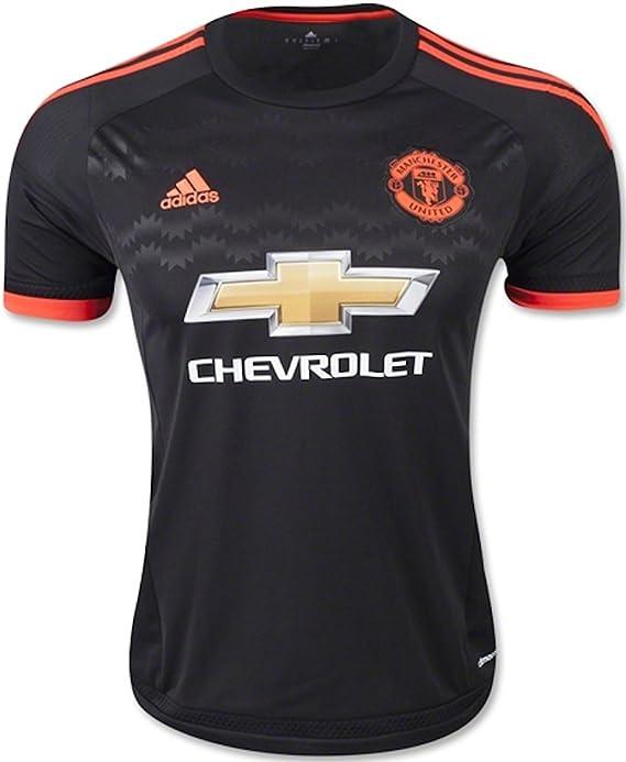 Amazon.com : adidas Manchester United FC 3rd Jersey-Black (XS ...