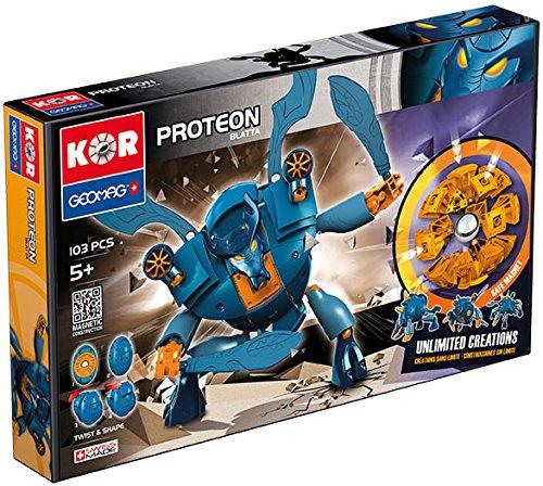 Geomag- KOR Proteon Juego de construcción, Multicolor, 103 piezas (5517519) , color/modelo surtido